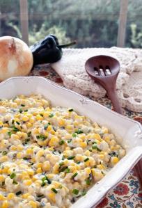 Corn Poblano Bake