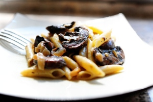 Pasta with Whiskey Wine and Mushrooms
